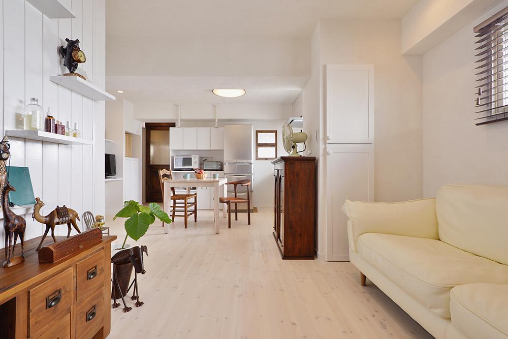 マロンと暮らす白い部屋