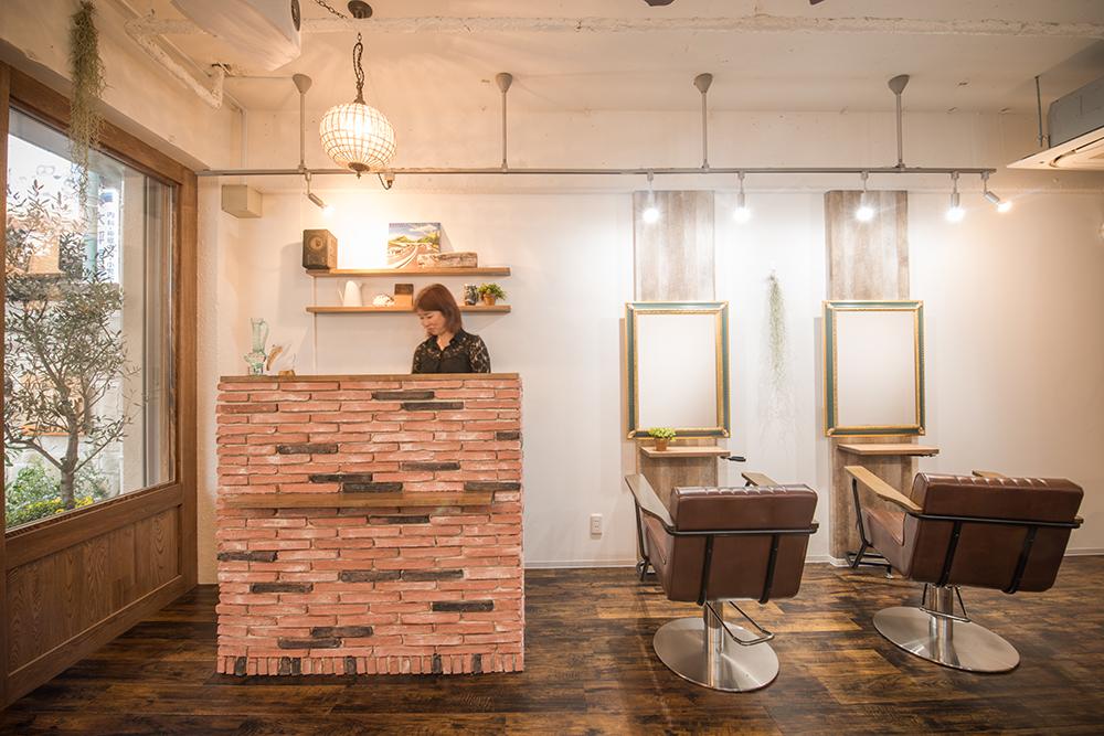 カフェのような美容室