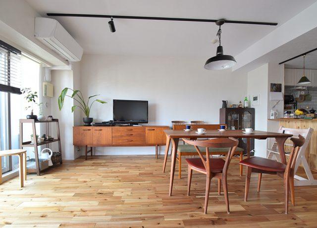 お気に入りのヴィンテージ家具がはえるステキな空間